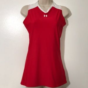 Under Armour Sz S Red/White Workout Top XC